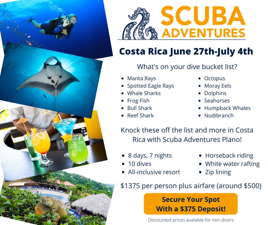Scuba Diving- Costa Rica- Scuba Adventures- Plano, Texas