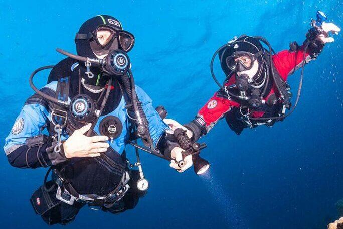 SDI Dry Suit Diver